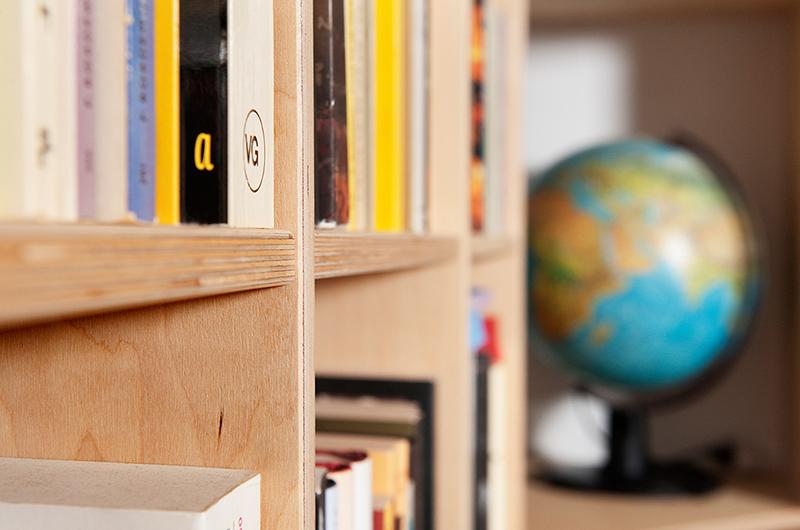 Op maat gemaakte kastenwand - detail boekenkast