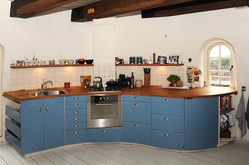 Ronde keuken ontworpen en op maat gemaakt voor molen Rhenen