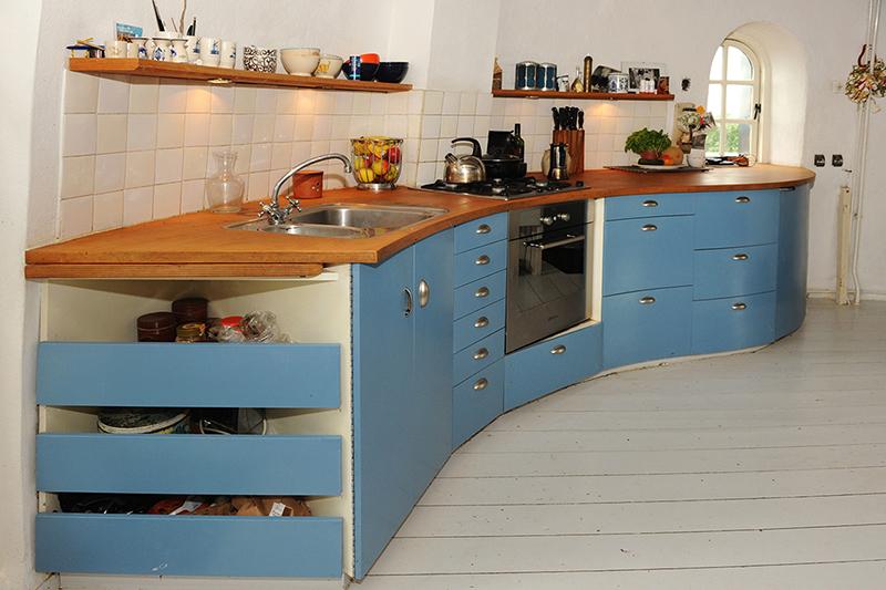 Ronde keuken in molen Rhenen