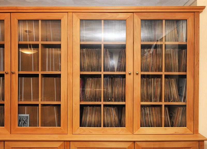 Kast voor platencollectie - kastdeuren