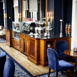 Exclusieve lounge balie Amstel Hotel - ontwerp en bouw: Henk Bosman