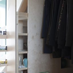 Garderobe en kast onder trap